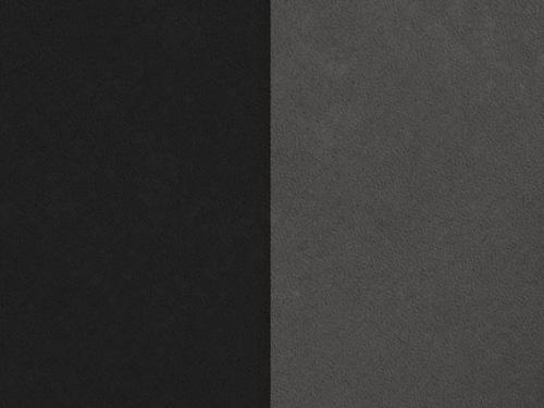 suédine réversible noir ou gris