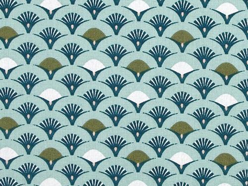 coton muji bleu