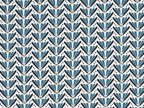 coton marita bleu