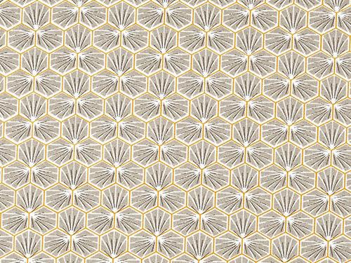 coton mosaïque beige