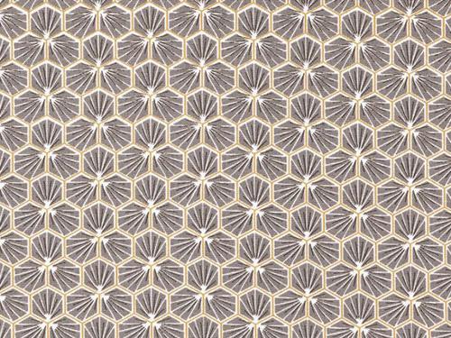 coton mosaïque gris