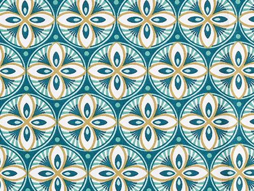 coton mandala bleu